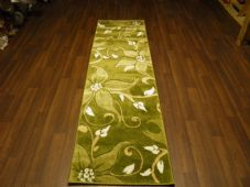 Runners 60x220cm Aprox 8ft Hand Carved Top Quality Lily Design Greens Stunning